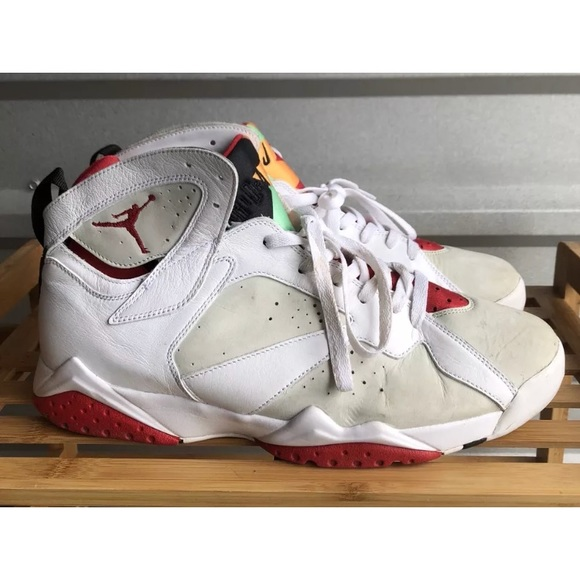 Nike Air Jordan 7 Retro Hare 304775 125 White Red.  M 5aced3009a94551d8e26787e 4383c030ab5e